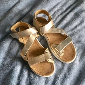 Call It Spring // gold strapped sandals